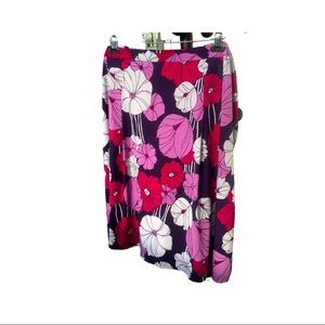 GEORGE Stretch Plus Size Floral Casual Skirt